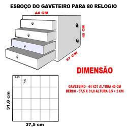 GAVETEIRO PARA 80 RELOGIOS