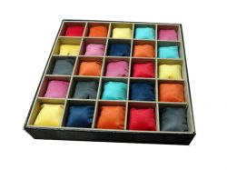 bandeja para 25 relogios,almofadas coloridas,exclusivo