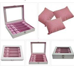 estojo organizador branco e rosa